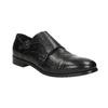 Czarne skórzane monki bata, czarny, 824-6730 - 13