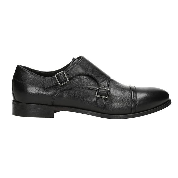Czarne skórzane monki bata, czarny, 824-6730 - 16