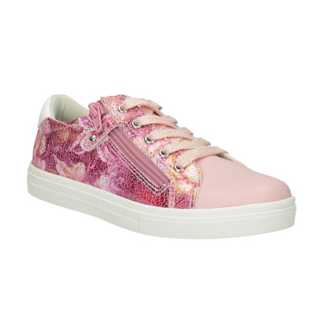Różowe trampki dziewczęce zzamkami błyskawicznymi mini-b, 321-5219 - 13