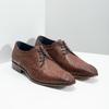 Skórzane półbuty męskie zfakturą bata, brązowy, 826-3825 - 16