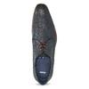 Granatowe skórzane półbuty zfakturą bata, niebieski, 826-9825 - 17