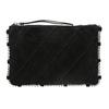 Skórzana torebka zpikowaniem bata, czarny, 963-6193 - 26
