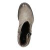 Skórzane botki zklamrami bata, szary, 696-2621 - 19