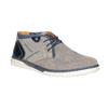 Męskie buty za kostkę bata, szary, 843-2633 - 13