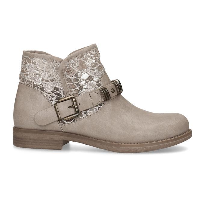 Kozaki damskie zkoronką bata, szary, 591-2628 - 19