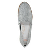 Srebrne skórzane obuwie typu slip-on flexible, 536-1604 - 17