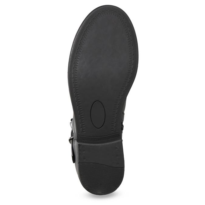 Czarne kozaki zkoronką bata, czarny, 591-6628 - 18