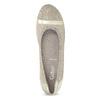 Skórzane baleriny zkryształkami gabor, beżowy, 526-8502 - 17