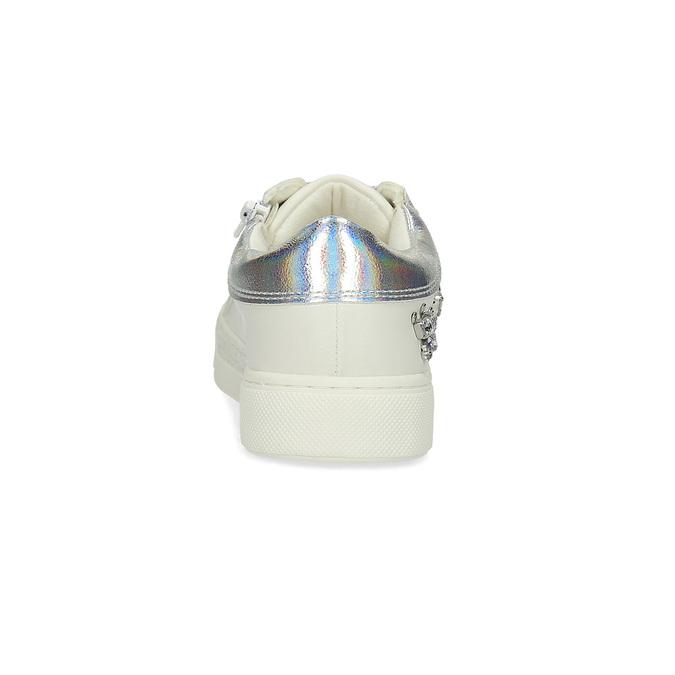 Trampki dziewczęce zkryształkami mini-b, biały, 321-1304 - 15