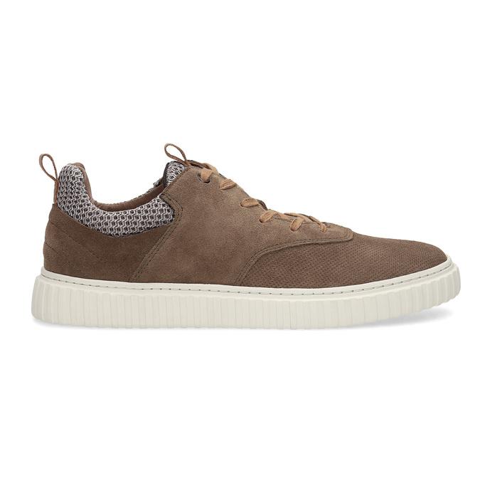 Nieformalne zamszowe trampki bata, brązowy, 843-4637 - 19