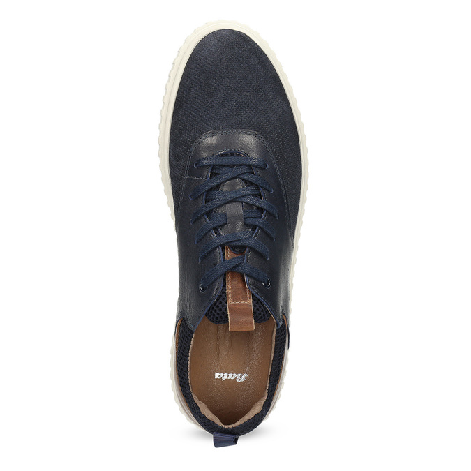 Nieformalne skórzane trampki bata, 843-9637 - 17