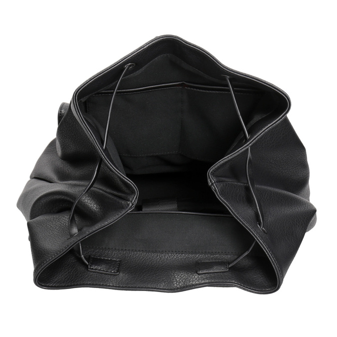 Czarny plecak damski bata, czarny, 961-6833 - 15