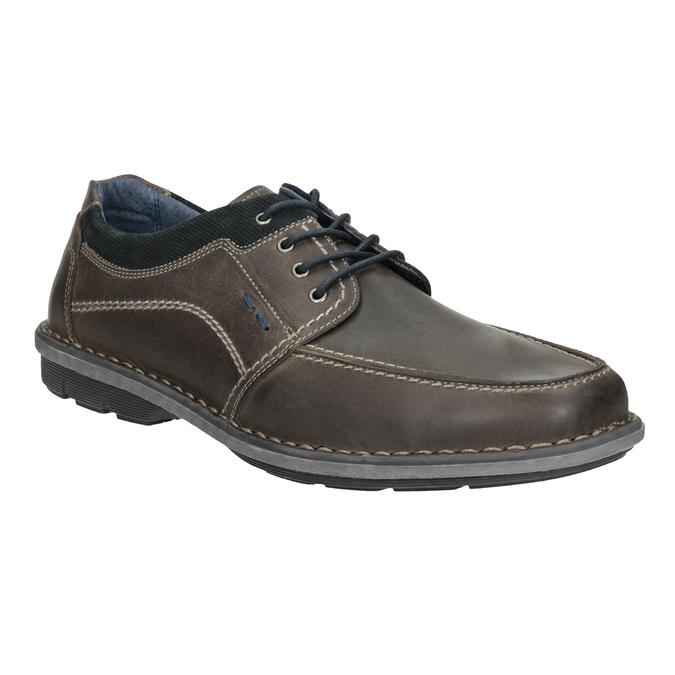 Nieformalne skórzane półbuty męskie bata, 826-2654 - 13