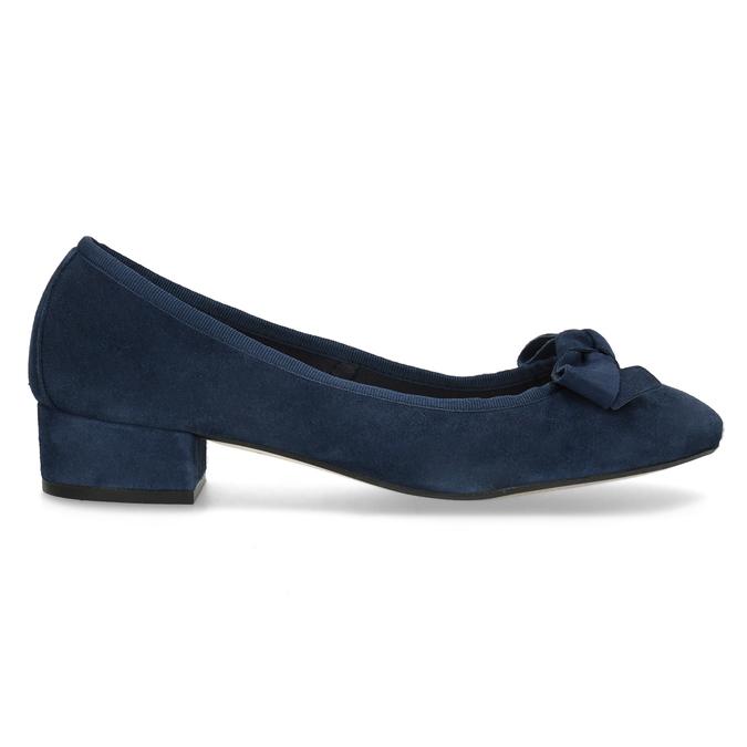 Niebieskie zamszowe baleriny bata, niebieski, 523-9420 - 19