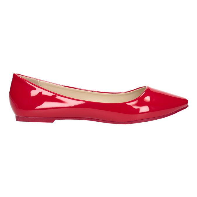 Czerwone lakierowane baleriny bata, czerwony, 521-0602 - 26