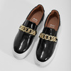 Skórzane obuwie typu slip-on na platformie bata, czarny, 518-6601 - 16
