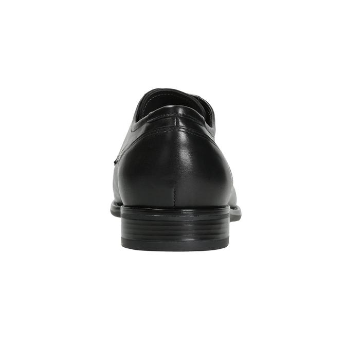 Skórzane półbuty męskie typu angielki bata, czarny, 824-6995 - 16