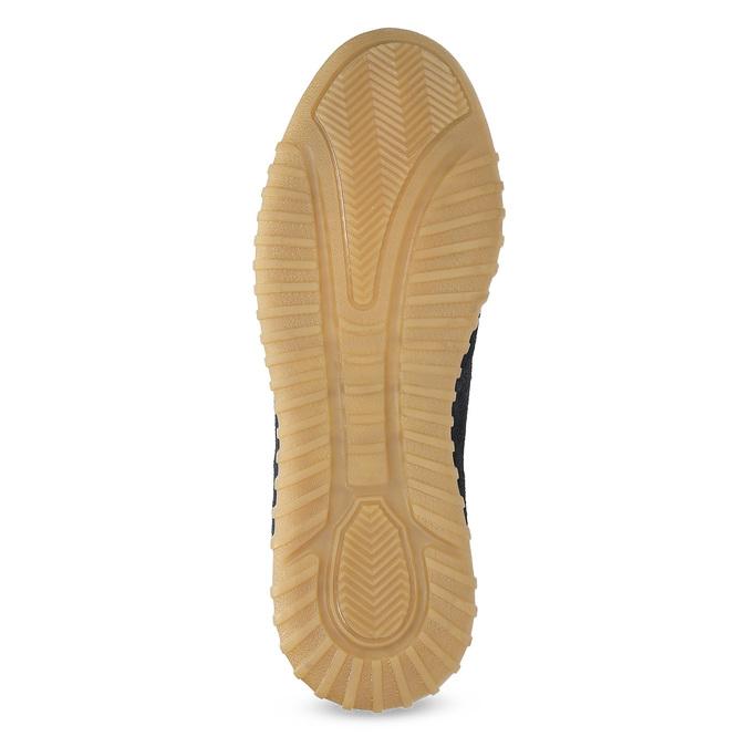 Granatowe zamszowe trampki męskie bata, 843-9634 - 18