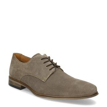 Angielki męskie zperforacją bata, brązowy, 823-8616 - 13