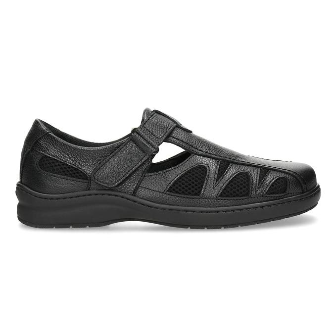 Skórzane sandały męskie weleganckim stylu pinosos, czarny, 864-6625 - 19
