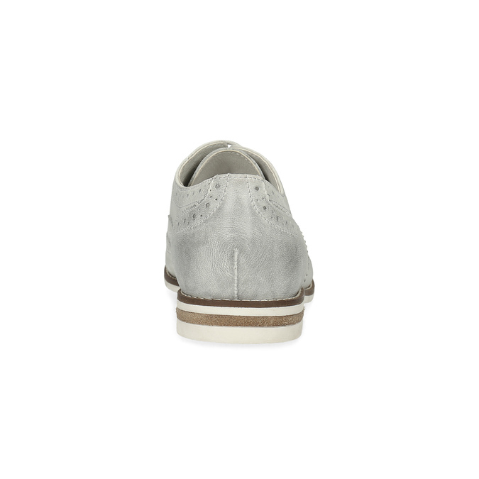 Skórzane brogsy damskie bata, szary, 526-1649 - 15