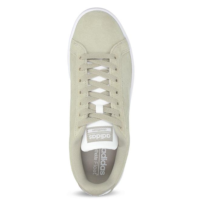 Beżowe zamszowe trampki męskie adidas, beżowy, 803-8394 - 17