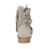 Skórzane botki zperforacją bata, szary, 596-2689 - 15