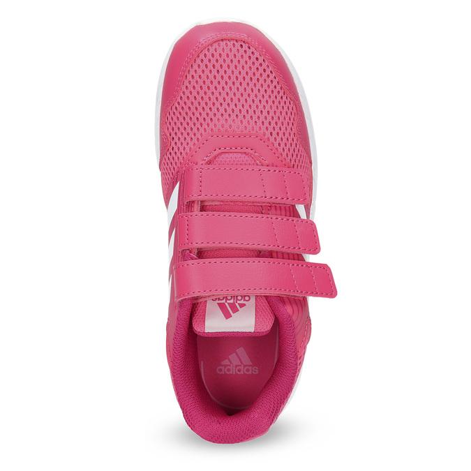 Różowe trampki na rzepy adidas, różowy, 309-5148 - 17