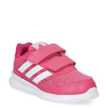 Różowe trampki dziecięce adidas, różowy, 109-5147 - 13
