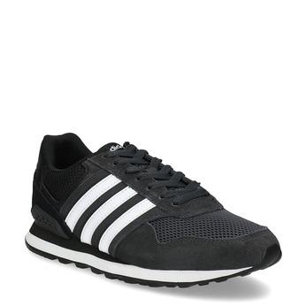 Czarne zamszowe trampki męskie adidas, czarny, 803-6293 - 13