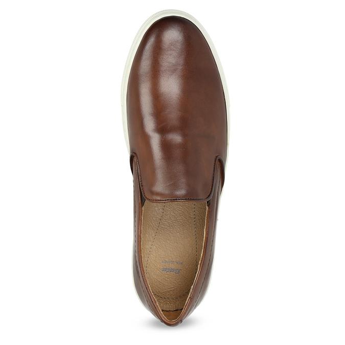 Skórzane slip-on męskie bata, brązowy, 836-4601 - 17