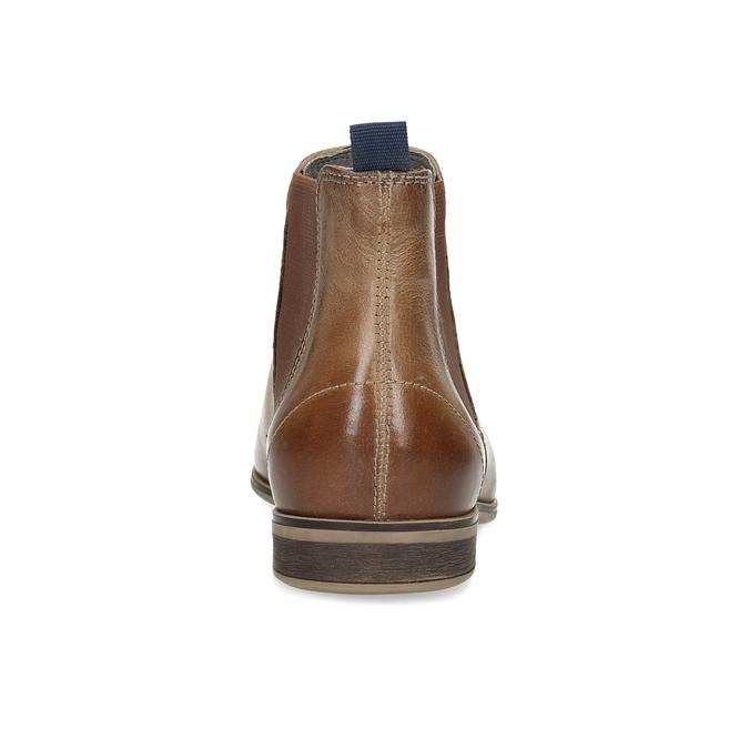 Skórzane botki damskie typu chelsea bata, brązowy, 596-3684 - 15