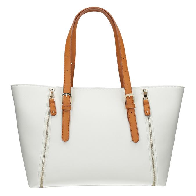 Kremowa torebka zdekoracyjnymi zamkami błyskawicznymi bata, biały, 961-1840 - 26