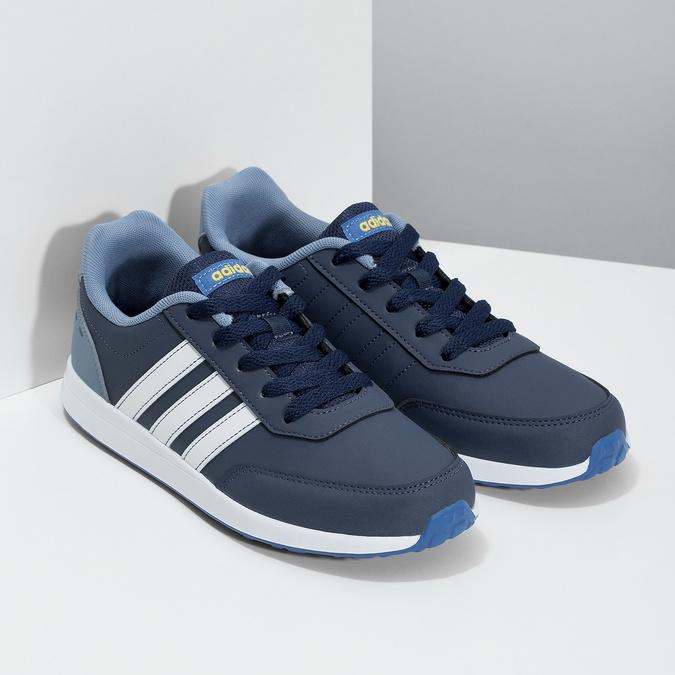 Granatowe trampki dziecięce adidas, niebieski, 401-9181 - 26