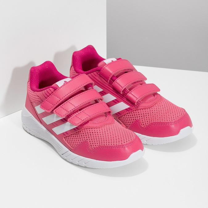 Różowe trampki na rzepy adidas, różowy, 309-5148 - 26