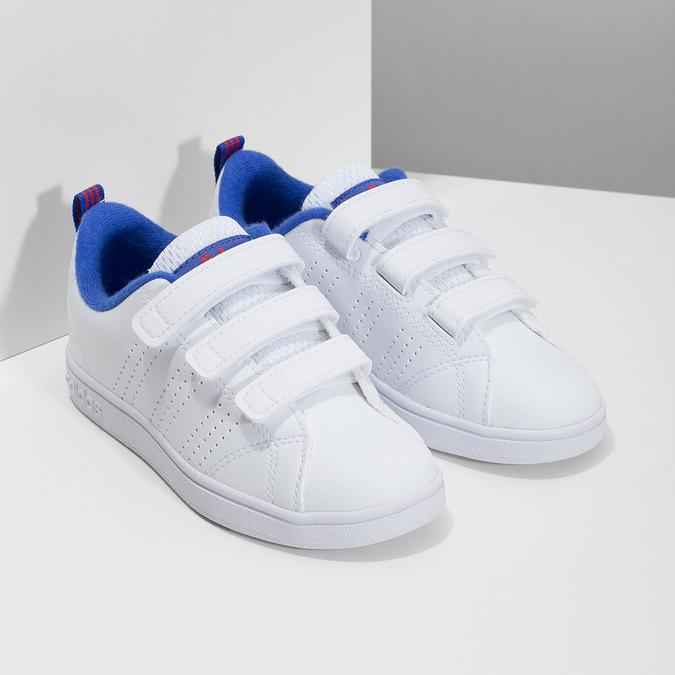 Białe trampki dziecięce na rzepy adidas, biały, 301-1968 - 26