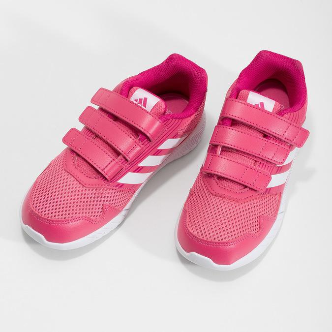 Różowe trampki na rzepy adidas, różowy, 309-5148 - 16