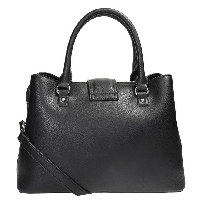 Czarna torba zodpinanym paskiem bata, czarny, 961-6216 - 16