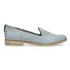 Skórzane loafersy damskie bata, niebieski, 519-9605 - 19