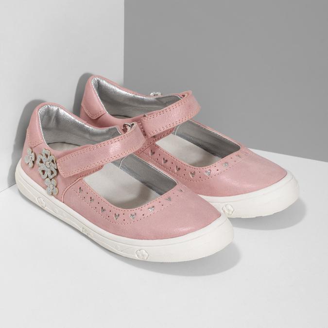 Różowe baleriny dziewczęce mini-b, różowy, 221-5216 - 26