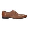 Brązowe skórzane półbuty typu angielki zfakturą bata, brązowy, 826-3945 - 16