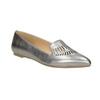 Skórzane obuwie damskie zperforacją bata, 526-1659 - 13
