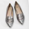 Skórzane obuwie damskie zperforacją bata, 526-1659 - 16