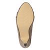 Beżowe czółenka na rozszerzanych słupkach insolia, 629-8634 - 19