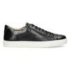 Skórzane trampki męskie bata, czarny, 844-6648 - 19