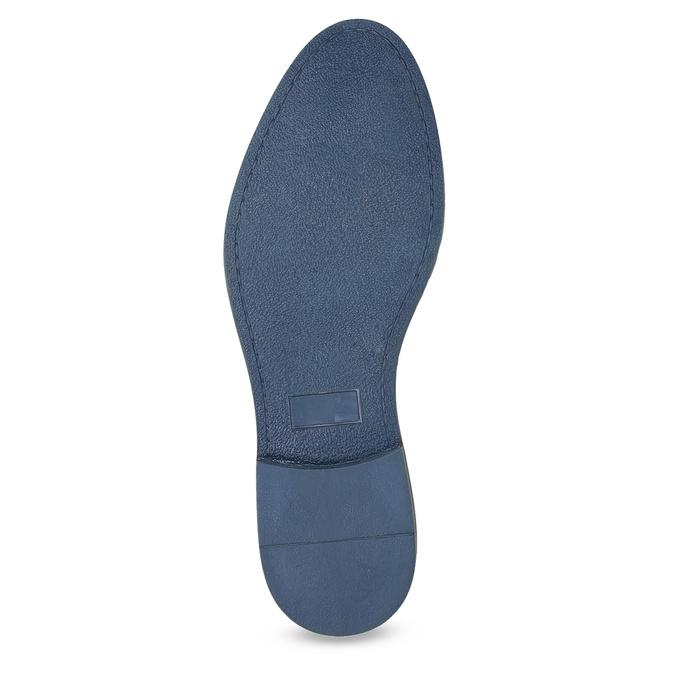 Skórzane półbuty zpodeszwą wpaski bata, niebieski, 823-9600 - 18
