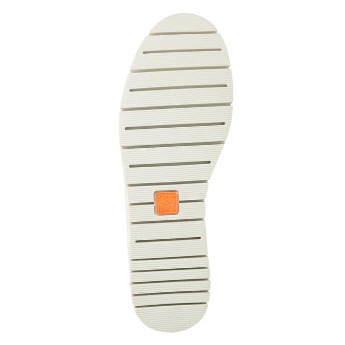 Czarne skórzane obuwie typu slip-on na kontrastowej podeszwie flexible, czarny, 536-6602 - 19