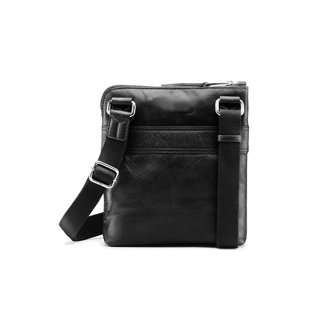 Czarna skórzana torba typu crossbody bata, czarny, 964-6288 - 26