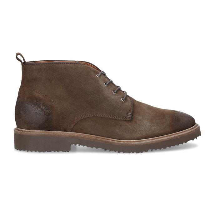 Skórzane obuwie wstylu chukka bata, brązowy, 823-4627 - 19