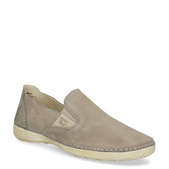 Skórzane obuwie typu slip-on weinbrenner, beżowy, 536-3606 - 13